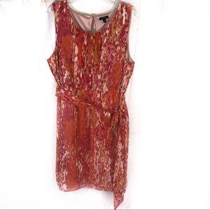 Apt 9 Sheer Multi Orange Sleeveless Dress